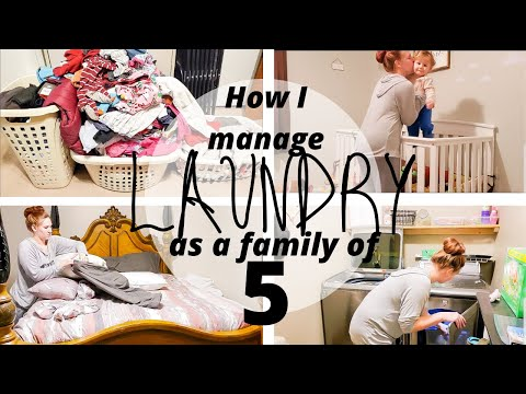 HOW TO MANAGE LAUNDRY FOR LARGE FAMILY | FAMILY OF 5 | LAUNDRY MOTIVATION | SAHM OF 3 KIDS