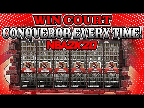 *NEW* BEST METHOD on HOW TO WIN 2v2 COURT CONQUEROR in NBA2K20! (MUST WATCH)